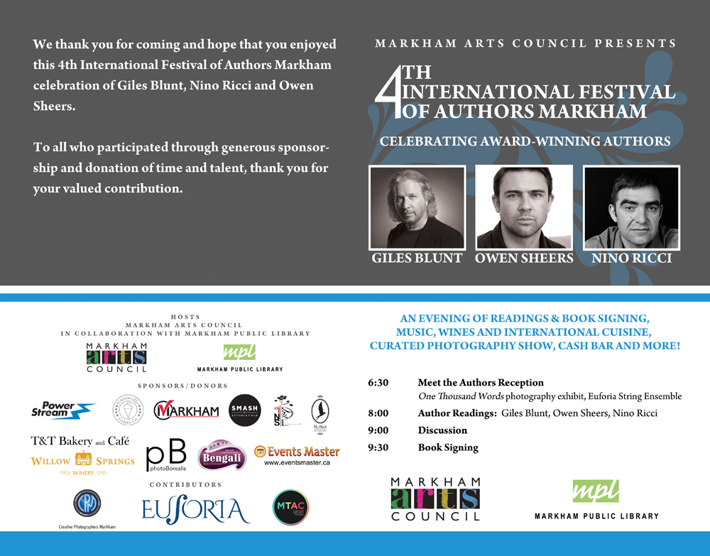 KishMan Solution sponsored International Festival of Authors, Markham